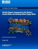Volatile Organic Compounds in the Nation's Ground Water and Drinking-Water Supply Wells pdf