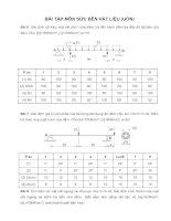 Bài tập môn sức bền vật liệu(Uốn) pptx