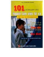 101 lời khuyên dành cho nhân viên làm việc từ xa part 1