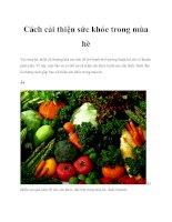 Cách cải thiện sức khỏe trong mùa hè ppt