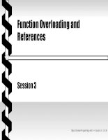 Object oriented programming with C++ - Session 3 Function Overloading and References ppt