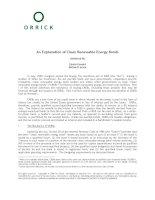 An Explanation of Clean Renewable Energy Bonds docx