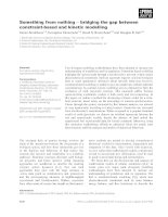 Báo cáo khoa học: Something from nothing ) bridging the gap between constraint-based and kinetic modelling pot