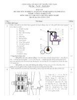đáp án đề thi lý thuyết khóa 2 - công nghệ ôtô - mã đề thi oto - lt (3)