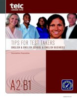 TIPS FOR TEST TAKERS ENGLISH & ENGLISH SCHOOL & ENGLISH BUSINESS pot
