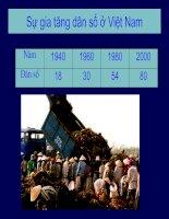 Sự gia tăng dân số ở Việt Nam doc