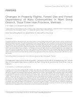 Changes in Property Rights, Forest Use and Forest Dependency of Katu Communities in Nam Dong District