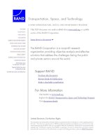 A RAND INFRASTRUCTURE, SAFETY, AND ENVIRONMENT PROGRAM Transportation, Space, and Technology pot