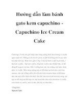 Hướng dẫn làm bánh gato kem capuchino Capuchino Ice Cream Cake pptx