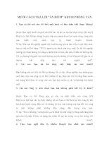 """MƯỜI CÁCH TRẢ LỜI """"ĂN ĐIỂM"""" KHI ĐI PHỎNG VẤN pdf"""