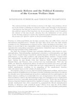 Economic Reform and the Political Economy of the German Welfare State doc