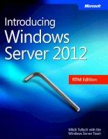 Introducing Windows Server 2012 RTM Edition docx