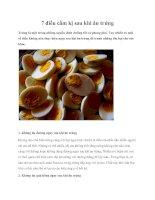 7 điều cấm kị sau khi ăn trứng pptx