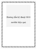Hướng dẫn kỹ thuật SEO mobile hiệu quả pdf