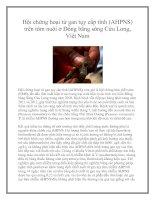 Hội chứng hoại tử gan tụy cấp tính (AHPNS) trên tôm nuôi ở Đồng bằng sông Cửu Long, Việt Nam potx