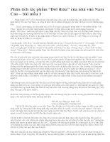 """Phân tích tác phẩm """"Đời thừa"""" của nhà văn Nam Cao – bài mẫu 1"""