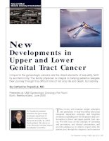 New Developments in Upper and Lower Genital Tract Cancer potx