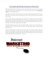 Con đường để bắt đầu với Internet Marketing docx