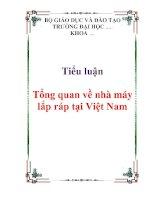 Tiểu luận :Tổng quan về nhà máy lắp ráp tại Việt Nam pdf