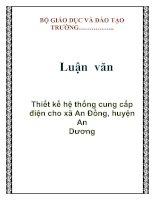 Luận văn: Thiết kế hệ thống cung cấp điện cho xã An Đồng, huyện An Dương doc