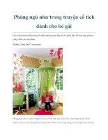 Phòng ngủ như trong truyện cổ tích dành cho bé gái pdf