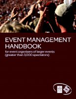 EVENT MANAGEMENT HANDBOOK for event organisers of larger events (greater than 3,000 spectators) doc