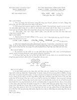 Đề thi học sinh giỏi Hóa 12 Thừa Thiên Huế doc