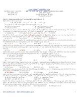 ĐỀ THI THỬ ĐẠI HỌC LẦN IV NĂM HỌC 2012-2013 MÔN HÓA HỌC mã đề thi 132 TRƯỜNG THPT CHUYÊN NGUYỄN HUỆ doc