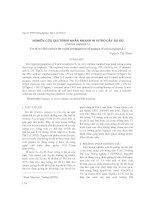 Nghiên cứu qui trình nhân nhanh in vitro cây đu đủ (Carica papaya L) pptx