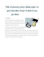 Một số phương pháp chống nghe và gọi trộm điện thoại cố định trong gia đình doc