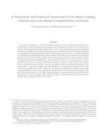 A Theoretical and Empirical Assessment of the Bank Lending Channel and Loan Market Disequilibrium in Poland doc