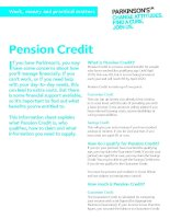 Work, money and practical matters: Pension Credit ppt