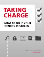 TAKING CHARGE - WHAT TO DO IF YOUR IDENTITY IS STOLEN doc
