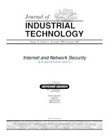 JOURNAL OF INDUSTRIAL TECHNOLOGY: Internet and Network Security docx