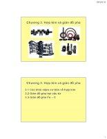 Vật liệu kim loại ( Hoàng Văn Vương ) - Chương 3. Hợp kim và giản đồ pha potx