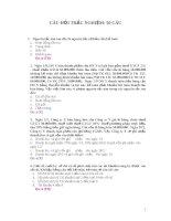 50 câu trắc nghiệm môn Kế Toán pptx