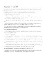 Lịch sử 12 Bài 19