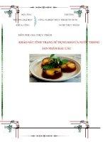 Khảo sát tình trạng sử dụng keo ưa nước trong sản phẩm rau câu