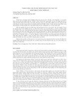 THÀNH PHẦN LOÀI VÀ ĐẶC ĐIỂM PHÂN BỐ CỦA THỰC VẬT NGẬP MẶN Ở THỪA THIÊN HUẾ docx