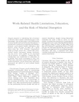 Work-Related Health Limitations, Education, and the Risk of Marital Disruption pdf