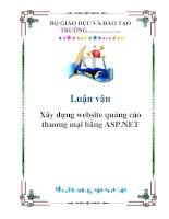 Luận văn: Xây dựng website quảng cáo thương mại bằng ASP.NET pdf