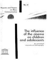 The influence of the cinema on children and adolescents ppt