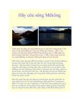 Hãy cứu sông Mêkông pot