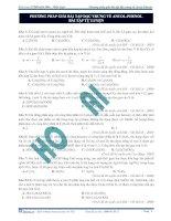 Phương pháp giải bài tập đặc trưng về ancol - phenol bài tập tự luyện doc