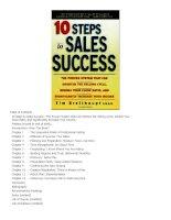 10 Steps to Sales Success pot