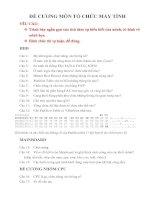 ĐỀ CƯƠNG MÔN TỔ CHỨC MÁY TÍNH pdf