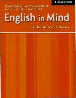 english in mind starter teacher's book