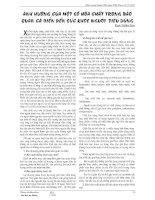 ẢNH HƯỞNG CỦA MỘT SỐ HÓA CHẤT TRONG BẢO QUẢN CÁ BIỂN ĐẾN SỨC KHỎE NGƯỜI TIÊU DÙNG pdf