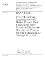 Federal Banking Regulators Could Better Ensure That Consumers Have Required Disclosure Documents Prior to Opening Checking or Savings Accounts ppt