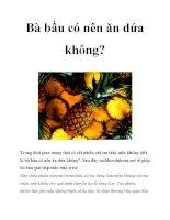 Bà bầu có nên ăn dứa không? pdf
